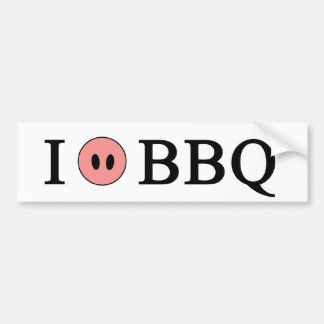 I Love BBQ Bumper Sticker
