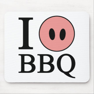 I Love BBQ Mouse Pad