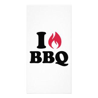 I love BBQ Photo Card Template