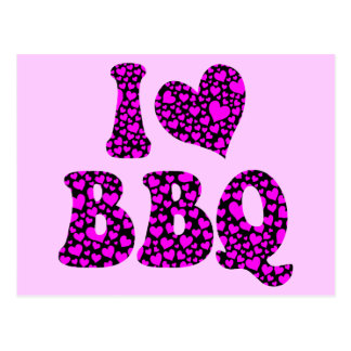 I love bbq post cards