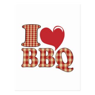 I Love BBQ Postcards