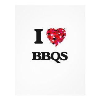 I Love Bbqs 21.5 Cm X 28 Cm Flyer