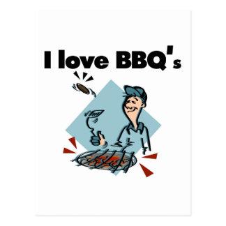 I Love BBQs T-shirts and Gifts Postcard