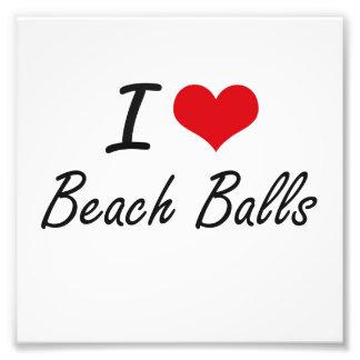 I Love Beach Balls Artistic Design Art Photo