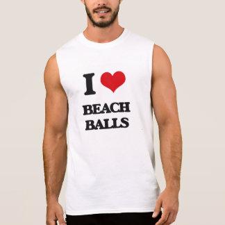 I Love Beach Balls Sleeveless Tees