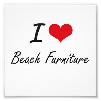 I Love Beach Furniture Artistic Design Art Photo
