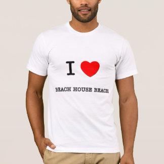 I Love BEACH HOUSE BEACH Hawaii T-Shirt