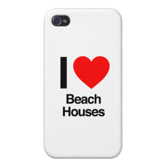 i love beach houses iPhone 4/4S cover