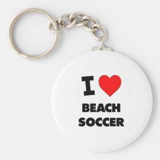 I Love Beach Soccer Key Chain