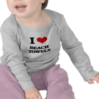 I Love Beach Towels T-shirts