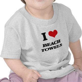 I Love Beach Towels Tees
