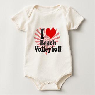 I love Beach Volleyball Baby Bodysuit