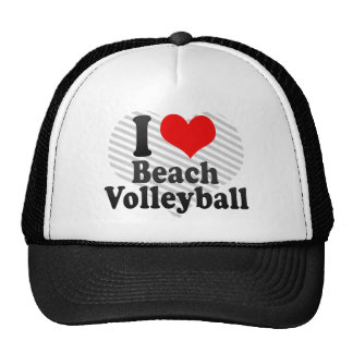 I love Beach Volleyball Mesh Hat