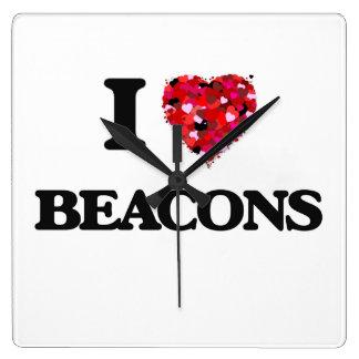 I Love Beacons Wall Clocks