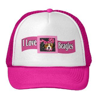 I Love Beagles Cap