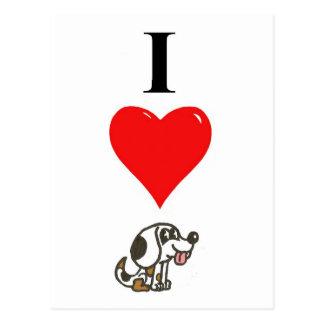I love Beagles Postcard