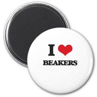 I Love Beakers Fridge Magnet