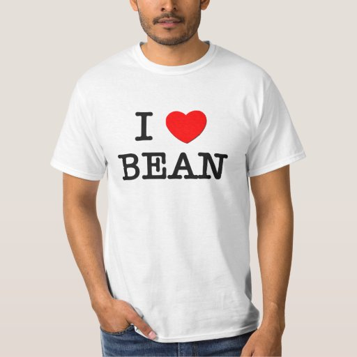 I Love Bean Tee Shirts