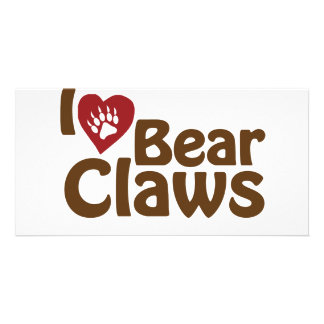 i love bear claws picture card