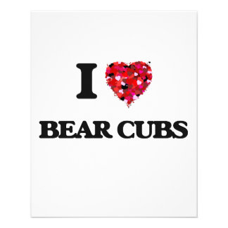 I love Bear Cubs 11.5 Cm X 14 Cm Flyer