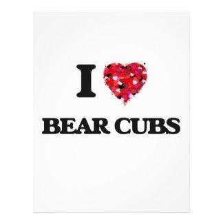 I love Bear Cubs 21.5 Cm X 28 Cm Flyer