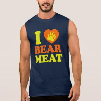 I LOVE BEAR MEAT. SLEEVELESS T-SHIRTS