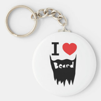 I love beard key ring