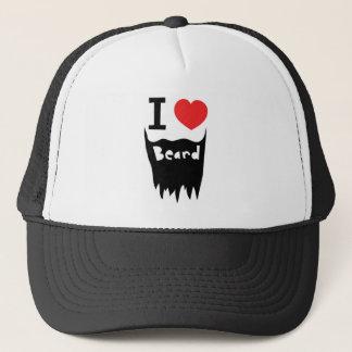 I love beard trucker hat