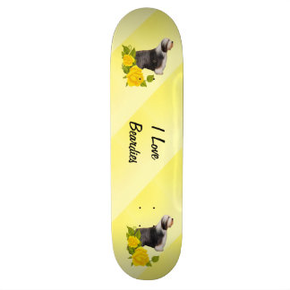 I Love Beardies and Yellow Roses Skate Decks
