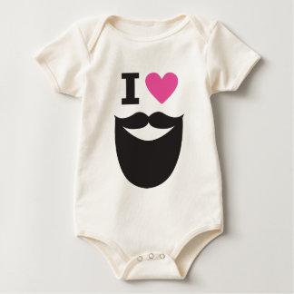 I Love Beards Baby Bodysuit