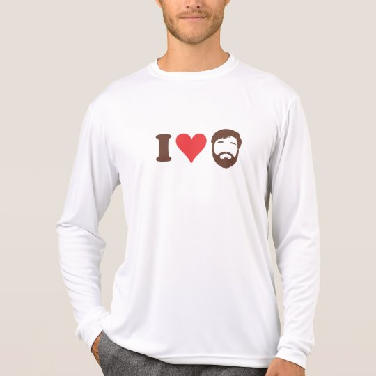 I Love Beards Long Sleeve T-Shirt