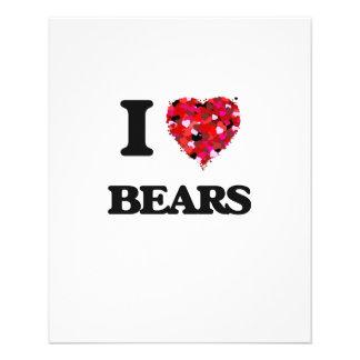 I love Bears 11.5 Cm X 14 Cm Flyer