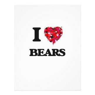 I love Bears 21.5 Cm X 28 Cm Flyer
