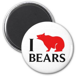I Love Bears 6 Cm Round Magnet