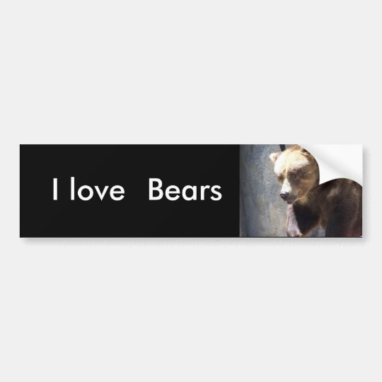 I love, Bears bumper sticker