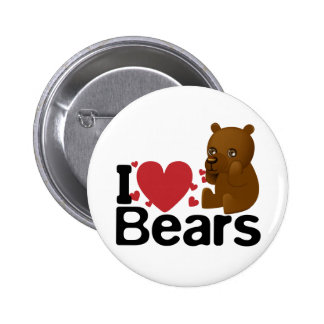 I Love Bears Button
