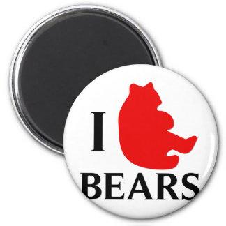 I Love Bears Fridge Magnet