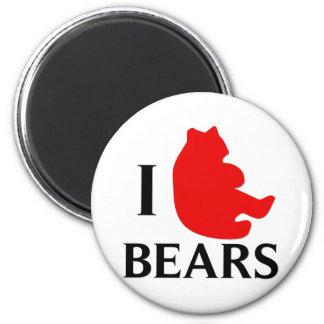 I Love Bears Fridge Magnets