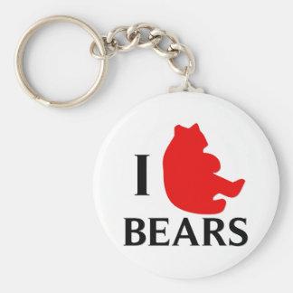 I Love Bears Key Ring