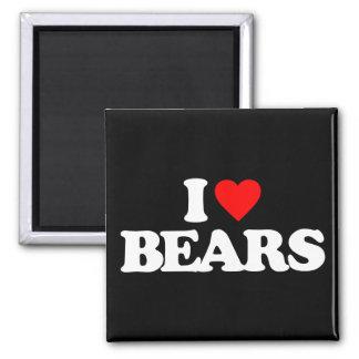 I LOVE BEARS REFRIGERATOR MAGNETS