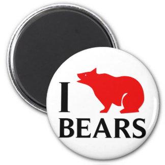 I Love Bears Refrigerator Magnet