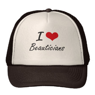 I Love Beauticians Artistic Design Cap