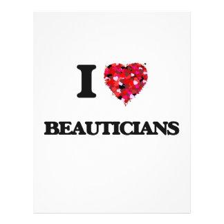 I Love Beauticians 21.5 Cm X 28 Cm Flyer