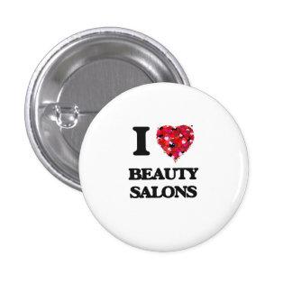 I Love Beauty Salons 3 Cm Round Badge