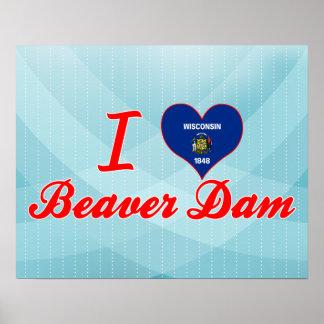I Love Beaver Dam, Wisconsin Poster
