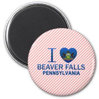 I Love Beaver Falls, PA 6 Cm Round Magnet