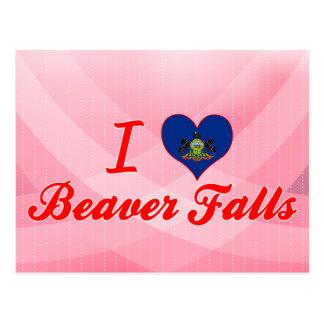 I Love Beaver Falls, Pennsylvania Postcard