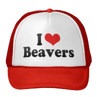 I Love Beavers Cap