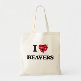 I Love Beavers Tote Bag