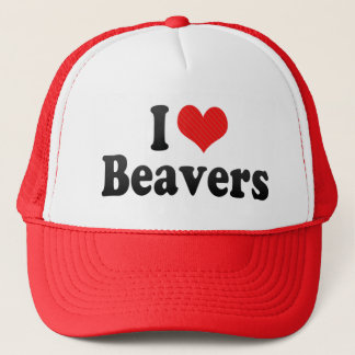 I Love Beavers Trucker Hat